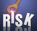 Risk word concept as background Royalty Free Stock Photo