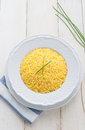 Risotto allo zafferano Royalty Free Stock Photography