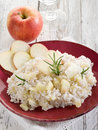 Risotto with apple Stock Photos