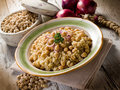 Risotto with  chickpeas Stock Photos