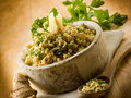 Risotto with ginger and parsley Stock Photo