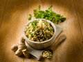 Risotto with ginger and parsley Royalty Free Stock Photos