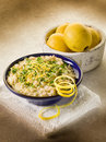 Risotto with lemon and parsley Royalty Free Stock Images