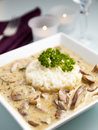 Risotto with mushroom sauce Stock Photography