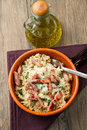 Risotto with mushrooms and bacon Stock Photography