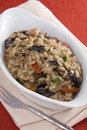 Risotto With Mushrooms and Tomatoes Stock Photos