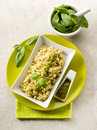 Risotto with pesto sauce Stock Photo