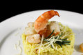 Risotto with royal shrimp Royalty Free Stock Photo