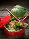 Risotto with savoy cabbage Stock Photos