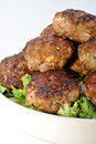 Rissole with organic salad Royalty Free Stock Photo