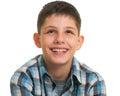 Ritratto di uno sguardo su del ragazzo Fotografia Stock Libera da Diritti