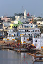 Ritual bathing in holy lake in Pushkar Royalty Free Stock Images