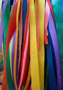 Ritual tree with colorful ribbons and scarves