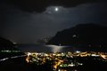 Riva del Garda night and moon