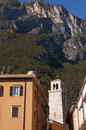Riva del garda this town is at the top of the lovely lake in italy Stock Images