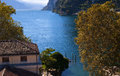 Riva del garda this town is at the top of the lovely lake in italy Royalty Free Stock Photos