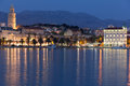 Riva Promenade At Night. Split...