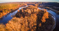 River aerial view Royalty Free Stock Photo