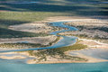 River aerial view in shark bay Australia Royalty Free Stock Photo