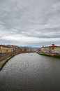 River arno in the italian city of pisa embankment Royalty Free Stock Image