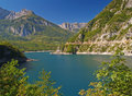 River as a fjord in montenegro Royalty Free Stock Photo
