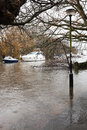 River avon burst uk christchurch in dorset Stock Images