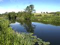 River avon close to the village of wasperton warwickshire june Royalty Free Stock Images