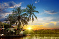 River and beautiful sunrise Royalty Free Stock Photo