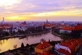 River in the beautifull spring view of wroclaw poland Royalty Free Stock Image