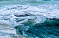 River beneath the frozen river Royalty Free Stock Photo