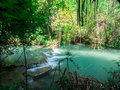 River with blue clear water