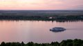 River boat cruise on Volga River Stock Photo