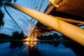 River Bridge at Dusk Royalty Free Stock Photo