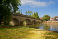 River bridge in oxfordshire over the thames walingford Royalty Free Stock Images