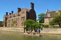 The river Cam at Cambridge and Magdalene College Royalty Free Stock Photo