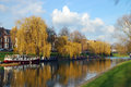 River Cam in Cambridge, United Kingdom Royalty Free Stock Photo