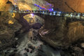 River and cave in the Jiuxiang scenic region in Yunnan in China. Thee Jiuxiang caves area is near the Stone Forest of Kunming Royalty Free Stock Photo