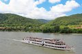 River cruise in austria tourists cruises along the danube wachau Royalty Free Stock Photography