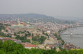 River Danube and Budapest old city panorama, Budapest Royalty Free Stock Photo