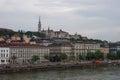 River Danube embankment, Matthias Church and Fisherman Bastion. Royalty Free Stock Photo