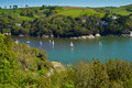 The River Dart near Dartmouth and the Devon coast Stock Image