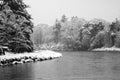 River dee banchory scotland winter Royalty Free Stock Image
