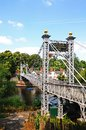 River dee suspension bridge chester aka queens park along the cheshire england uk western europe Stock Photo
