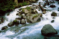 River in Dombai. Stock Photos