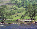 River dove stepping stones dovedale peak district and Royalty Free Stock Image