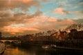 River at dusk Royalty Free Stock Photo