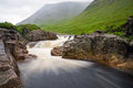 The river etive in glen coe scotland on a rainy day Royalty Free Stock Photo