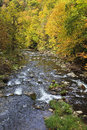 River in the fall mountains nantahala north carolina Stock Photography
