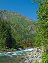 A river flowing through a mountain forest wenatchee washington usa Stock Photography