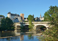 River gave de pau crossed ancient bridge arches Royalty Free Stock Photo